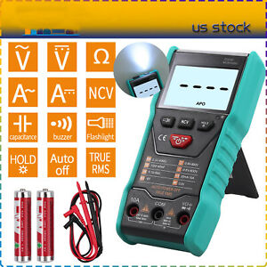 Digital Multimeter True Rms Auto Range Ac dc Voltage Current 6000 Counts Tester