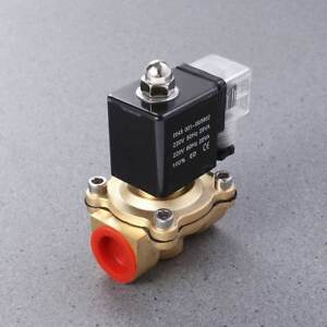 1 Pc Nc Direct Acting Brass High Quality Electromagnetic Valve For Water Air Gas