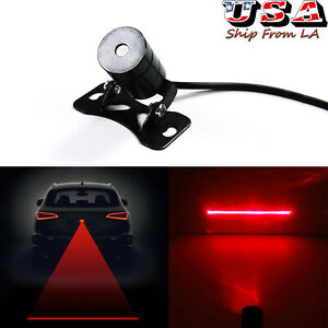 Car Motorcycle Led Laser Anti Collision Red Fog Light Tail Brake Warning Lamp