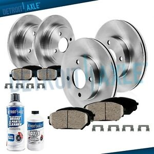 1993 1999 2000 2001 For Nissan Altima Front Rear Brakes Rotors Ceramic Pads