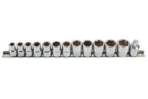 Socket Set 13pce Damaged Undamaged Nuts Special Profile 8mm 19mm Save Time