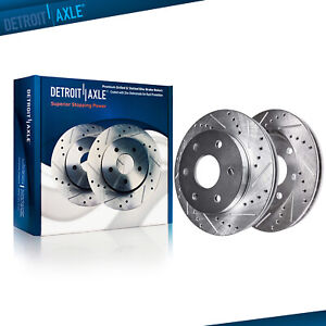 Front Drilled Slotted Brake Rotors For 2005 2006 Nissan Armada Titan Qx56