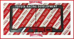 Trd Toyota Racing Development License Plate Frame fast Shipping 67894 00920