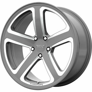 20x10 Gray Milled American Racing Ar922 Wheels 5x4 5 40 Fits Ford Mustang