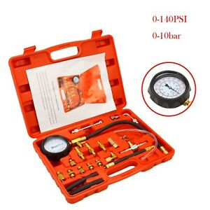 Fuel Injection Pump Pressure Tester Manometer Gauge System Test Kit For Car Auto