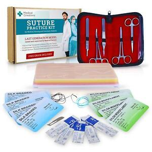 Complete Suture Practice Kit By Silicon Suturing Pad With Tool Kit Developed B