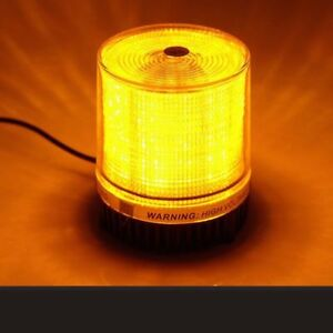 12v Led Emergency Strobe Warning Flashing Light Magnetic Mount Amber Us Ship