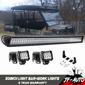 Offroad Led Light Bar 288w 50 Combo Beam Driving Pickup 4wd Roof Rack Straight