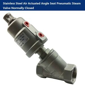 1 2 Stainless Steel Single Acting Air Actuated Angle Seat Pneumatic Steam Valve