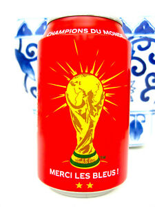 Coca Cola Coke Aluminum Can France World Cup Champion FIFA 2018