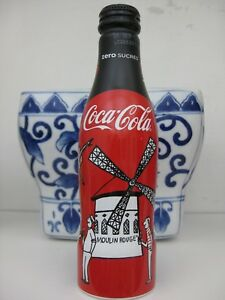 Coca Cola Coke Zero Aluminum Bottle from France Moulin Rouge Pigalle New Sealed