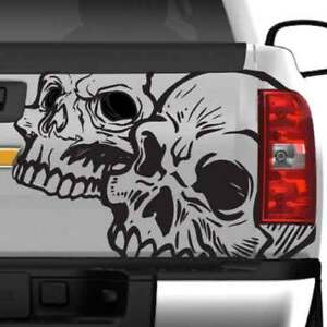 Dodge Ram Ford Chevy Grunge Skull Side Rear Truck Graphic Decal Vinyl Tailgate