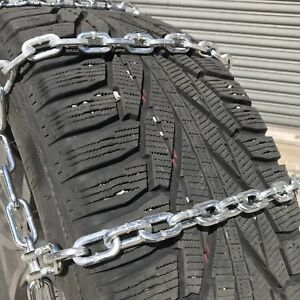 Snow Chains P245 65r15 P245 65 15 Square Tire Chains W Spider Tensioners