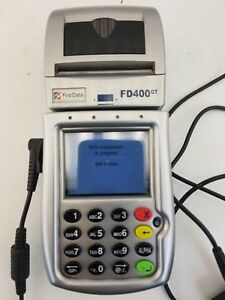First Data Fd400gt Gprs Wireless Terminal With Power Supply