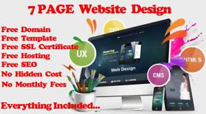 7 Page Wordpress Website Web Design Personal Or Business