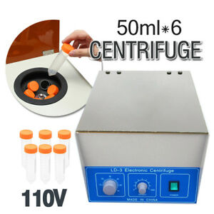 Ld 3 6 50ml Electric Benchtop Centrifuge Lab Medical Practice 4000rpm Laboratory
