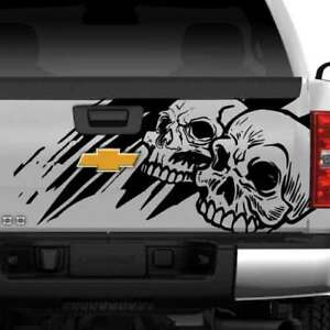 Dodge Ram Chevy Ford Grunge Skull Truck Graphic Decal Vinyl Bed Tailgate Rear