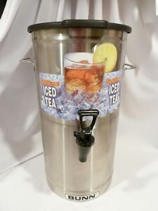 Bunn Commercial Iced Tea Dispenser Oval With Solid Lid 4 Gallon Model Tdo 4