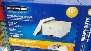 File Folder Cardboard Storage Bankers Boxes Heavy Duty W lids 10 Letter Or Legal