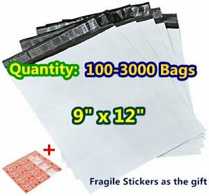 9x12 Poly Mailers Shipping Envelopes Self Sealing Plastic Bags Gray 2 5mil