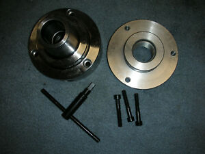 New Atlas Craftsman 9 12 Inch Lathe 5c Collet Chuck With 1 1 2 8 Backing Plate
