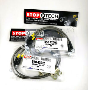 Front rear Stainless Steel Brake Lines For 07 13 Infiniti G35 G37 Stoptech