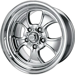 16x7 Polished American Racing Vintage Hopster Wheels 5x4 75 0 Buick Special