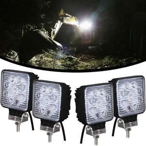 4pcs 27w Led Work Light Head Lamp For Caterpillar Excavators 303 5e2cr 304e2cr