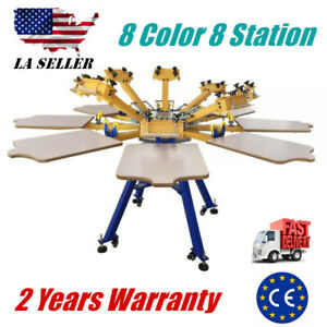 8 Color 8 Station Silk Screen Printing Machine Screen Press T shirt Printing Diy
