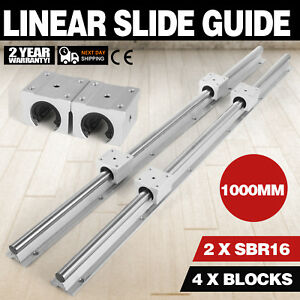 Sbr16 1000mm 2 X Linear Rail 4 X Bearing Blocks Economical Slide Guide Routers