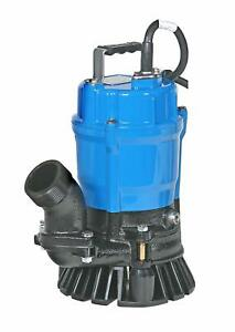 Tsurumi Hs2 4s 62 Submersible Trash Water Pump 2 inch Discharge 52 Gpm