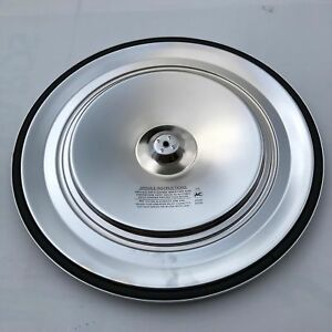 Corvette Air Cleaner Lid Chrome Dual Snorkle 70 72 With Silk Screen Printing