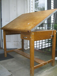 Vintage Mayline Drafting Table great Desk 4 Engineer Architect Artist