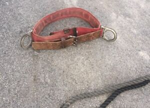 Vintage Linemans Climbing Belt With Lanyard