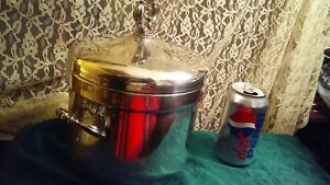 F B Rogers 1883 Vintage Silverplate Glass Lined Ice Bucket