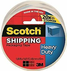 Scotch Heavy duty Shipping Packaging Tape 1 88 In X 54 6 Yd Clear