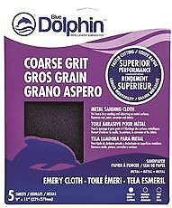 Blue Dolphin Emery Cloth 9 In X 11 In Coarse 5 Pack