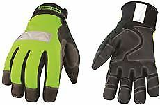 Safety Lime Waterproof Winter Gloves Large
