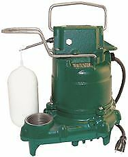 Zoeller Cast Iron Automatic Submersible Sump Pump 1 3 Hp