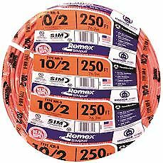 Romex Nm b Non metallic Sheathed Cable With Ground 10 2 250 Ft Per Roll