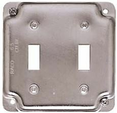 Hubbell Square Cover 4 In Exposed Work 2 Toggle Switches