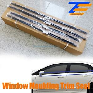 Fit For Honda Civic 4pcs Car Weatherstrip Window Moulding Trim Seal Belt 06 11