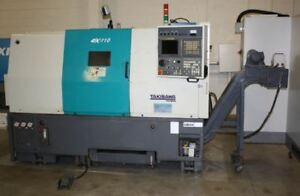 Takisawa Ex 110 2 axis Cnc Slant Bed Turning Center Lmc 38605