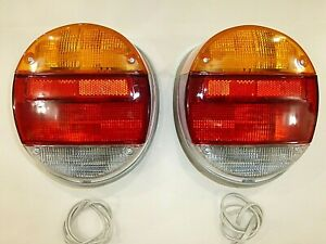 Pair 1973 79 Vw Bug Vw Super Beetle Tail Light Assembly Vw Thing Taillight