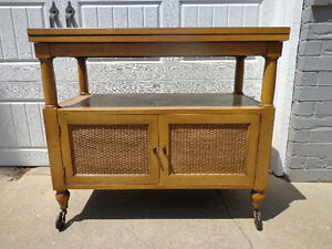 Vintage Bar Tea Cart Buffet Server Console Cabinet Storage Mid Century Modern