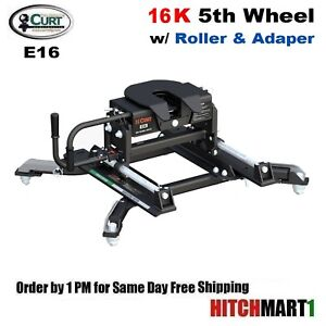 16k Curt 5th Wheel Trailer Hitch W Roller Adapter For Ram Puck System 16684