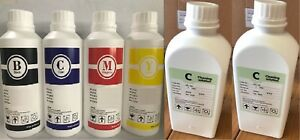 Dye Sublimation Bulk Ink Refill For Epson 4 Pack c y m k 2 Cleaning Sol