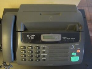 Sharp Ux 106 Mono Fax Machine Operation Manual Works Well