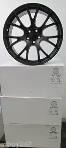 20 Factory Style Dodge Charger Srt Hellcat Staggered Satin Black Wheels Rims