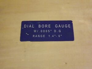 Fowler Dial Bore Gage 1 4 6 0